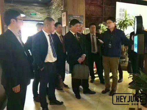 缅甸浙商代表团参观茶桔便总部博多
