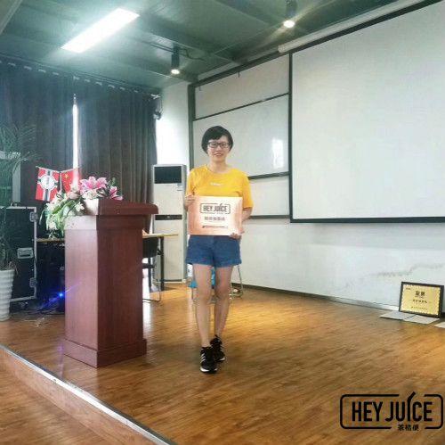 恭喜韩女士签约芜湖茶桔便单店