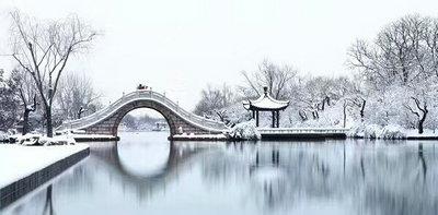 2018杭州西湖雪景